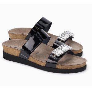 ♠️🆕 Mephisto ψ Crystal Cork Footbed Sandal ψ Blk